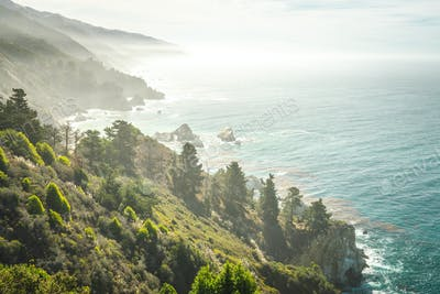 Rugged rocky coastline