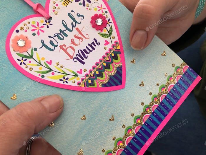 Mother's Day Card, World's Best Mum