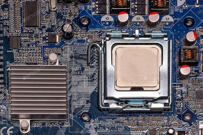 Placa madre de la computadora de primer plano