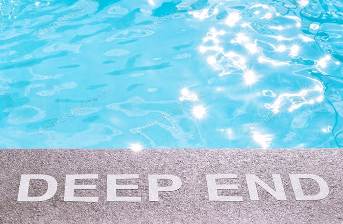 Deep End sign at the swimming pool