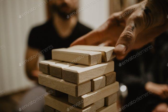 Millennials playing a board game