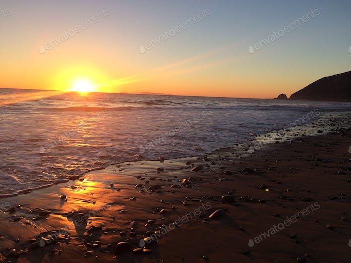 Sunset. Beach. SoCal.