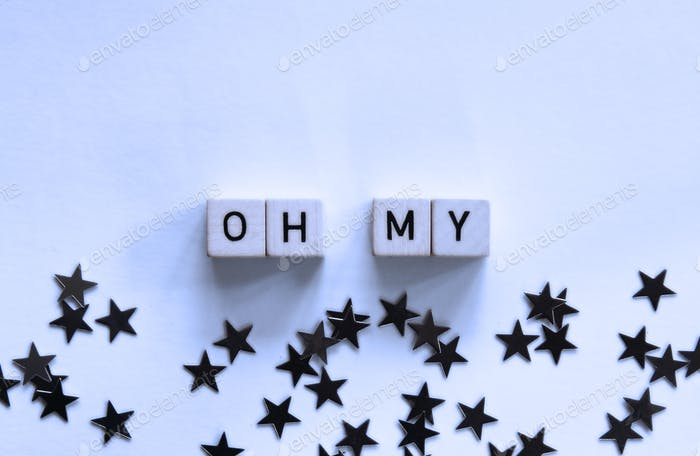 Word dice - oh my stars with stars