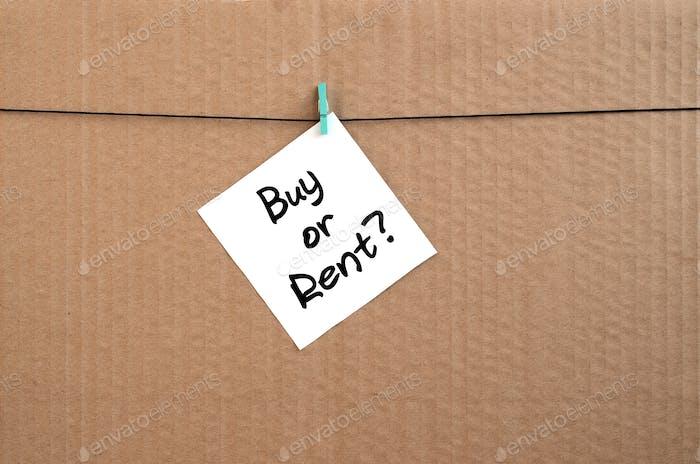 Купить или арендовать