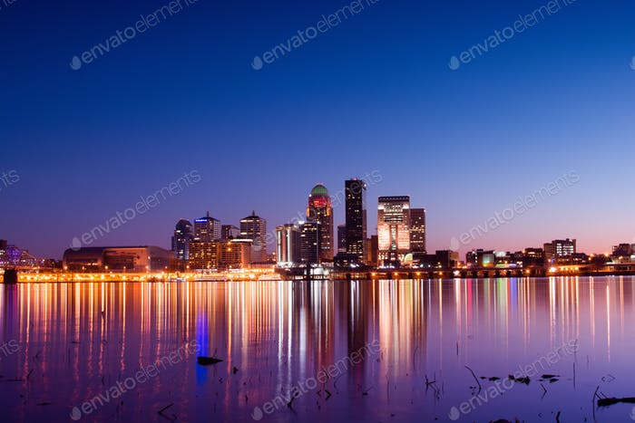 Louisville, KY at twilight