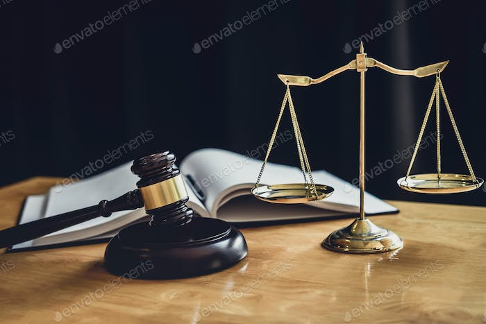 Judge gavel with Scale of justice