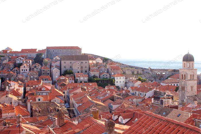 Looking down on Dubrovnik old town