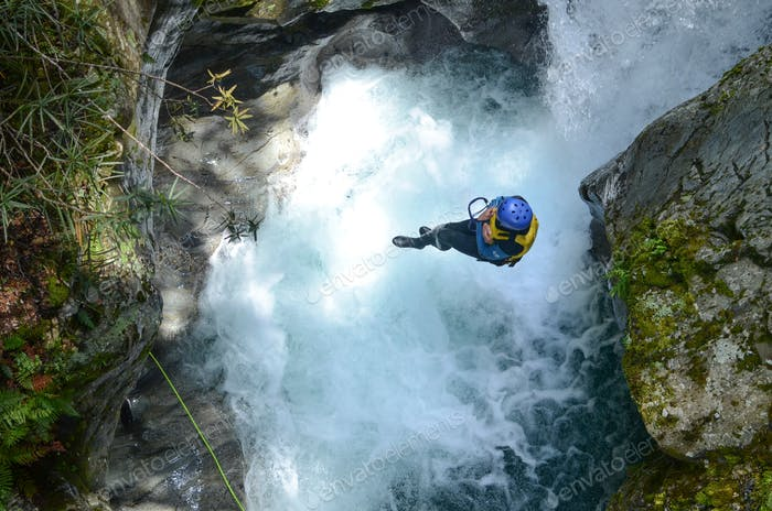 Cannonball canyoning
