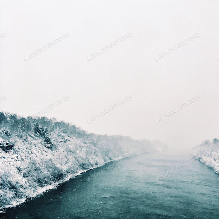 Cumberland River at Two Rivers Greenway Nashville TN.