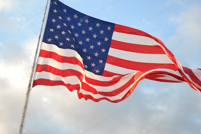 Waving American Flag United States of American