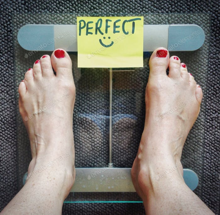 Weighing yourself, perfect!!