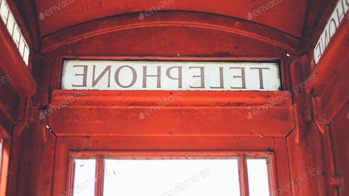 Antique British Telephone Booth in America.