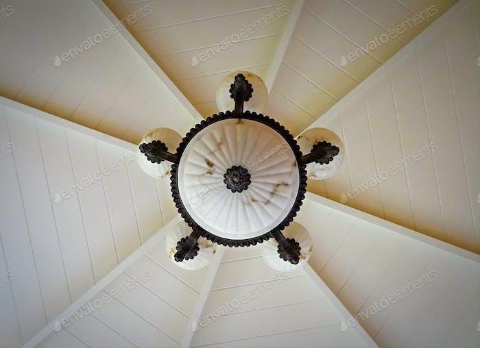 Ceiling light in vestibule