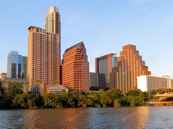 City Skyline of Austin, Texas from the Colorado River