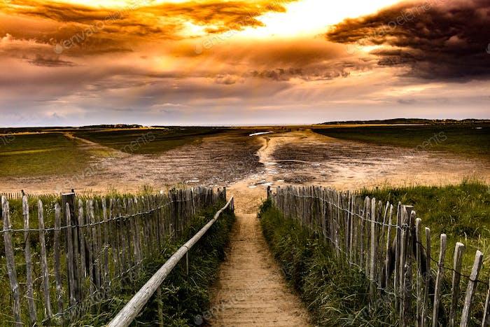 Holkham beach, England