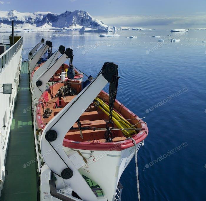 Tourist Boat in Antarctica