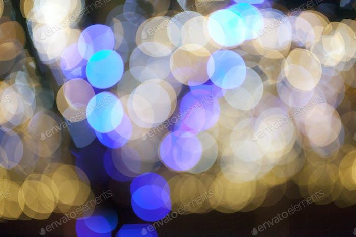 blurry bokeh of christmas lights