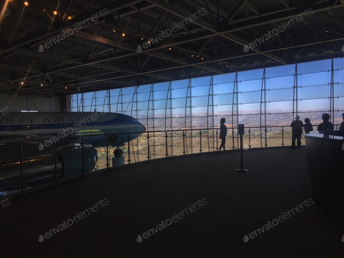 Hangar for Air Force One at Ronald Reagan Presidential Library.