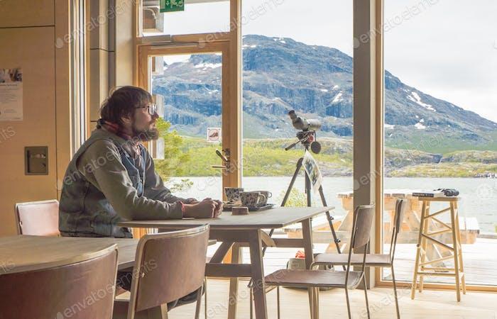 """""""Naturum"""" museum-cafe in Lapland."""