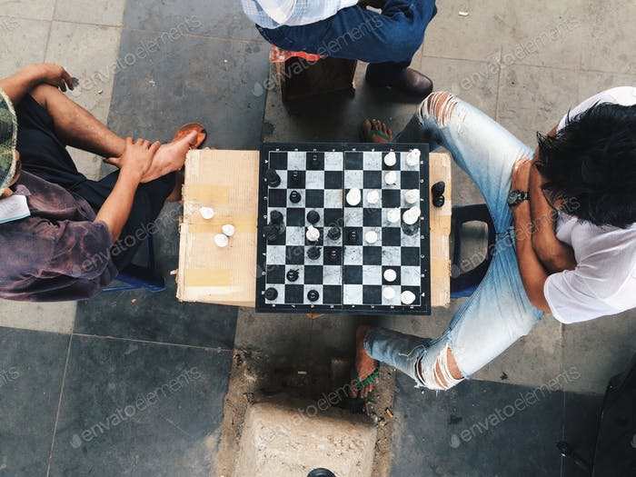 Street chess competition.