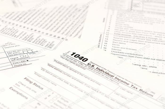 Blank income tax forms