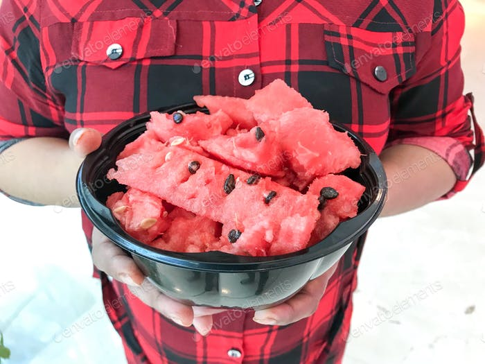 Beating the heat with fresh watermelon