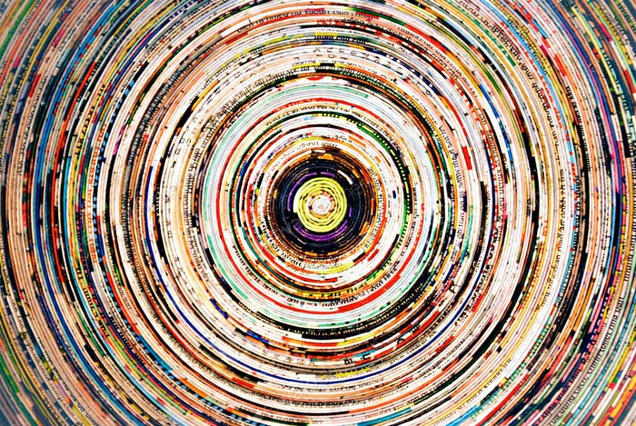 Concentric colored circles