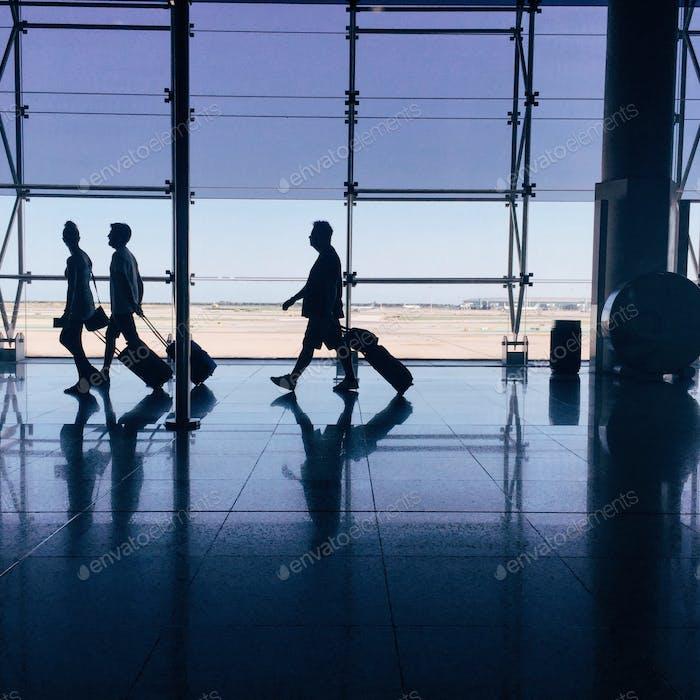 Abflug am Flughafen