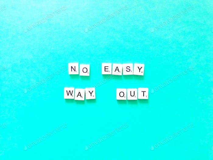 Kein einfacher Ausweg