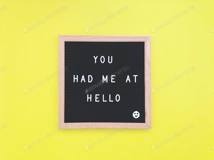 Du hattest mich bei Hello