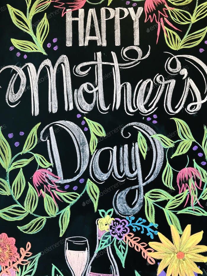 Happy Mother's Day written on chalkboard