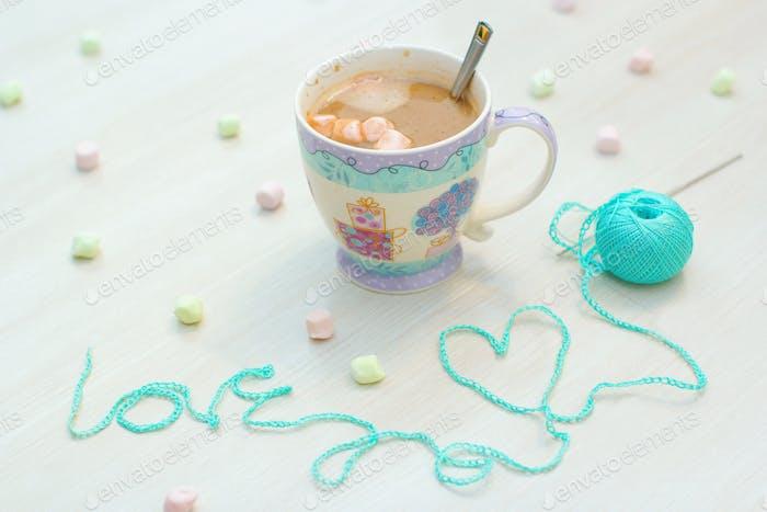 crochet, knit the word-love.