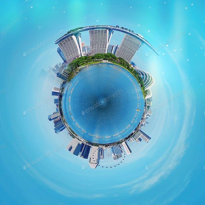 Singapore city landmarks