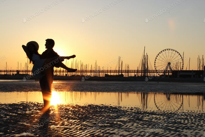sunset at 6:00 am, golden hour.  Golden Hour with Him shooting realized in Rimini. Join others in my