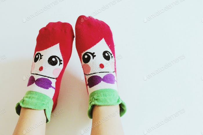 My Little Mermaid socks. 🐠