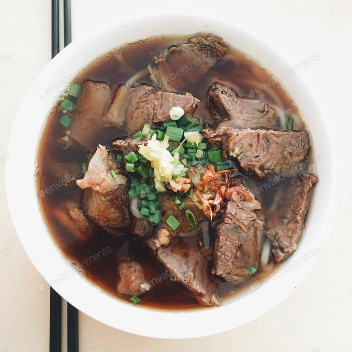 Beef + Beef Ball Noodles