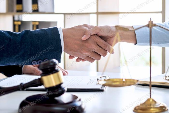 Handshake after good cooperation