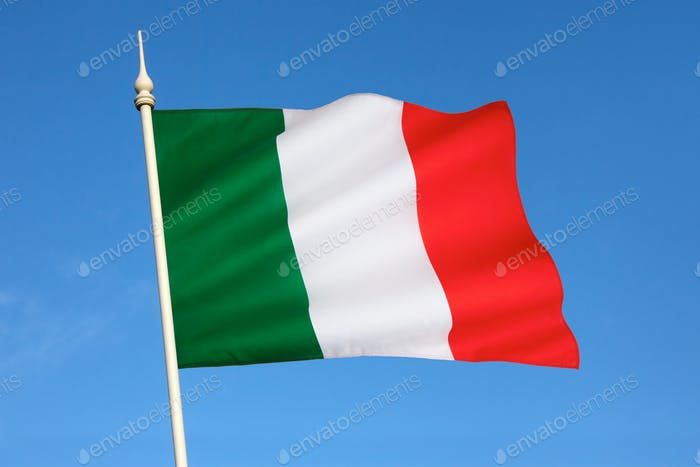 The flag of Italy - bandiera d'Italia, often referred to in Italian as il Tricolore