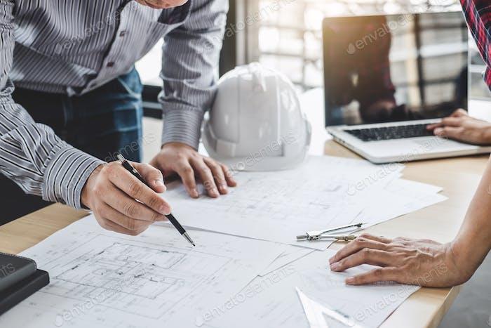 Architecture Engineer Teamwork Meeting