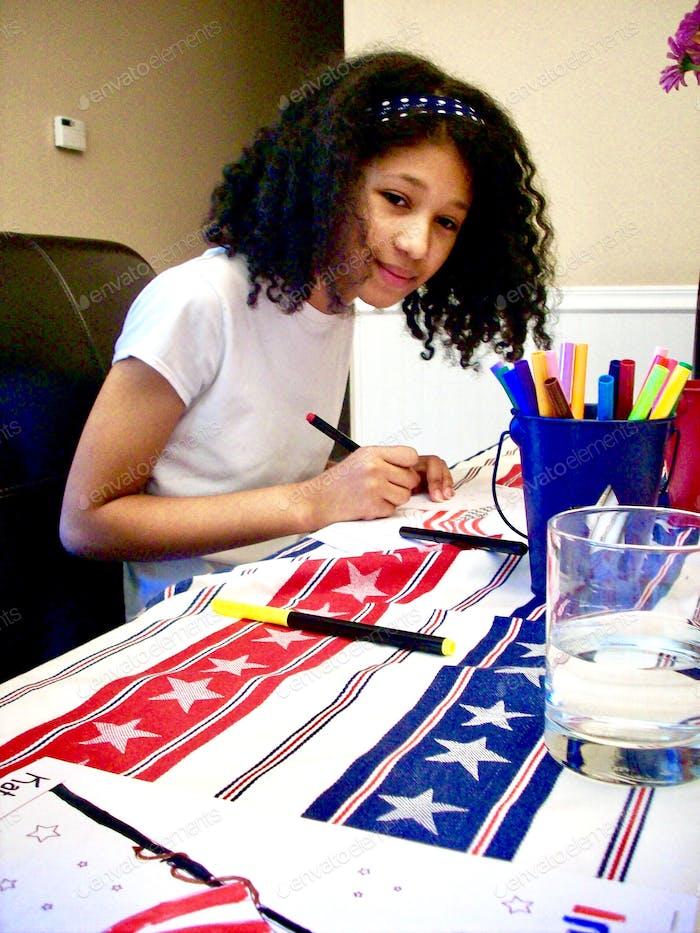 Young millennial volunteering
