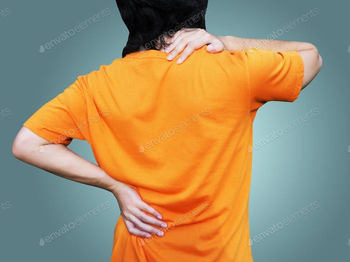 Men with waist and back pain