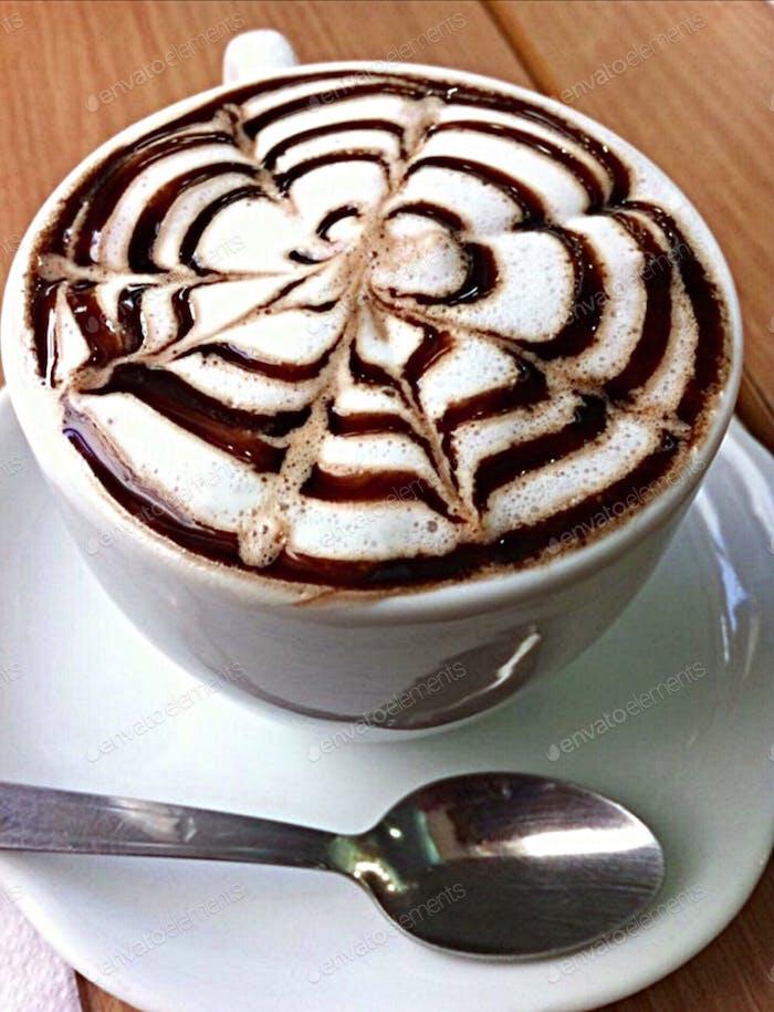 Flower cappuccino