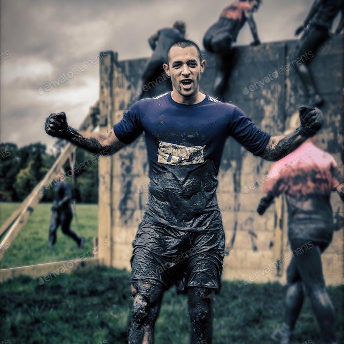 Me on a charity mud run! ✌️