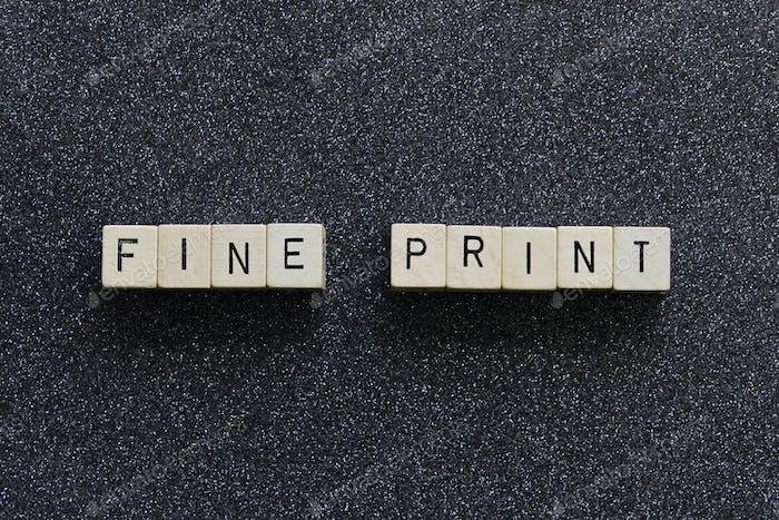 Fine print concept