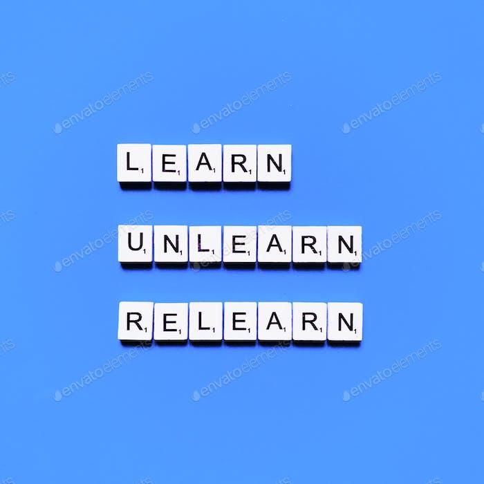 Lernen. Verlernt. Wiederlernen.