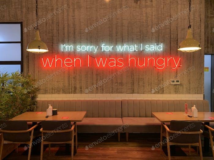 Phrase in the restaurant