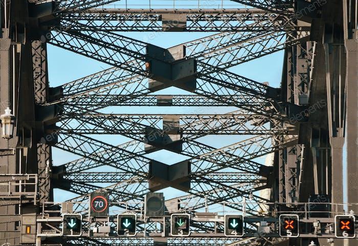 TheSydney Harbor Bridgeis a heritage-listed steelthrough arch bridgeacrossSydney Harborthat