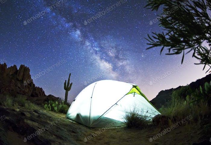 Milky Way Over Tent