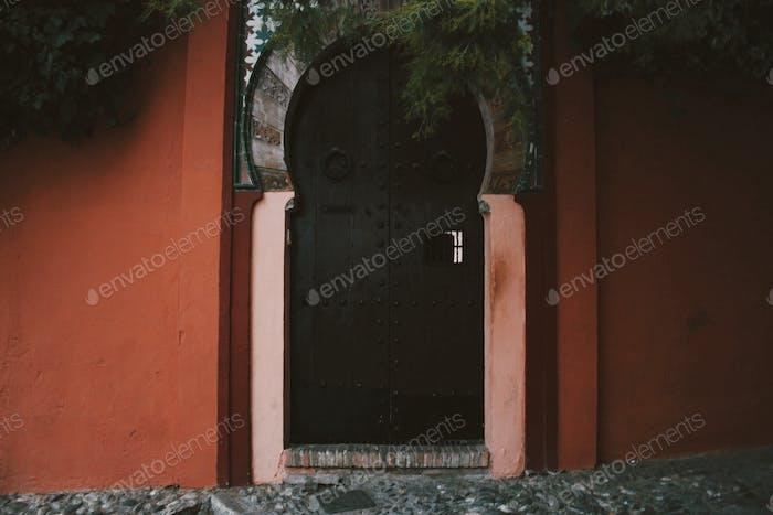 Arabic door in Granada