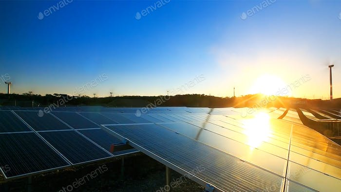 Solar cell panels plant